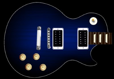 Blue Sunburst Guitar Skin
