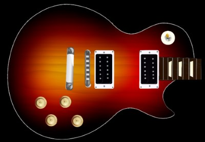 Cherry Sunburst Guitar Skin