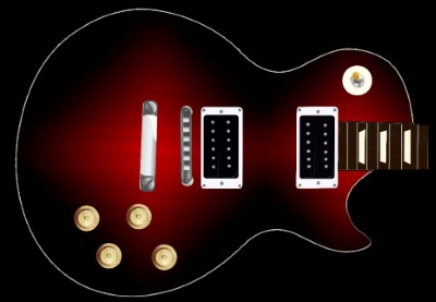 Red Sunburst Guitar Skin
