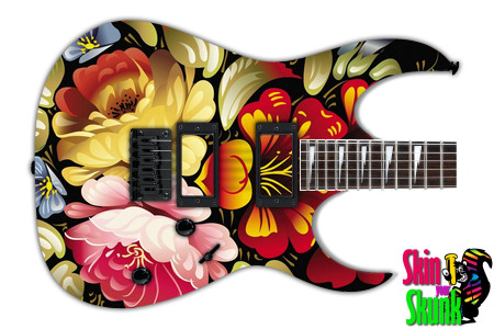 Buy Guitar Skin Abstractone Flowers