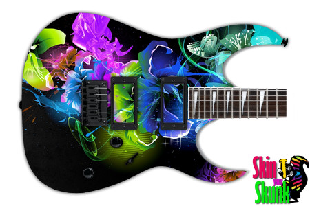 Buy Guitar Skin Abstractthree Flowers