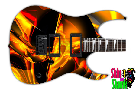 Buy Guitar Skin Abstractthree Gold