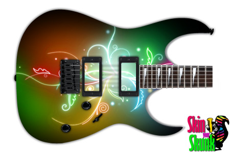 Buy Guitar Skin Abstracttwo Floral