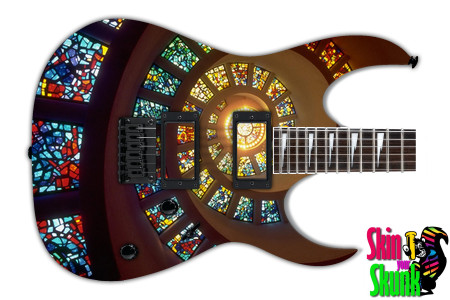 Buy Guitar Skin Abstracttwo Glass