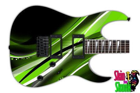 Buy Guitar Skin Abstracttwo Green