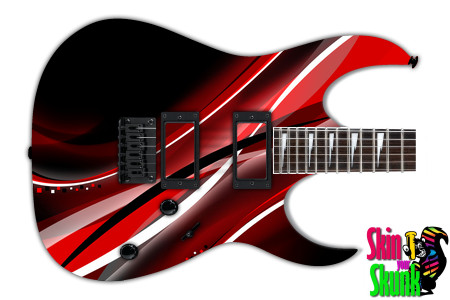 Buy Guitar Skin Abstracttwo Red