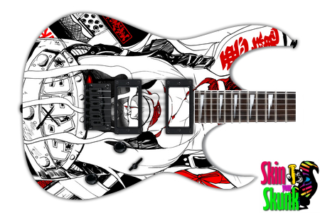 Buy Guitar Skin Awesome Deathgirl