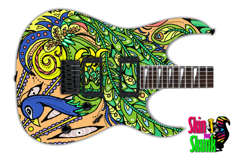 Buy Guitar Skin Awesome Peacock