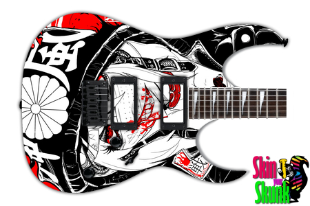 Buy Guitar Skin Awesome Wargirl