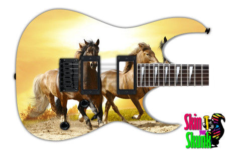 Buy Guitar Skin Beautiful Horses