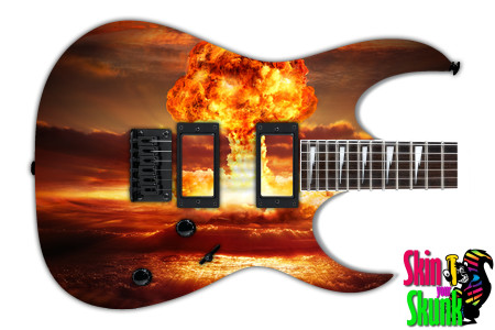 Buy Guitar Skin Fire Atomic