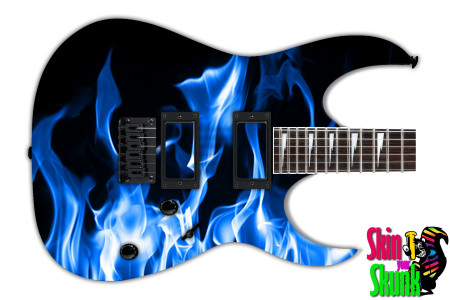 Buy Guitar Skin Fire Blue