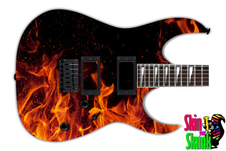 Buy Guitar Skin Fire Burn
