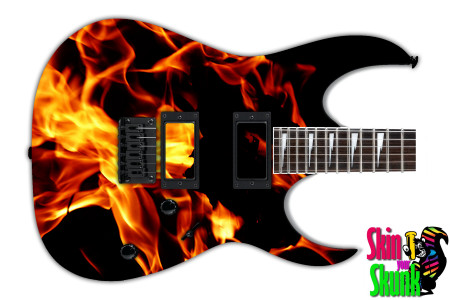 Buy Guitar Skin Fire Flame