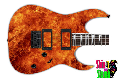 Buy Guitar Skin Fire Hot