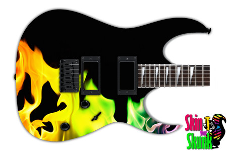 Buy Guitar Skin Fire Rainbow