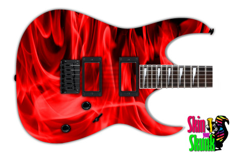 Buy Guitar Skin Fire Red