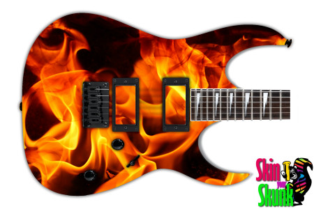 Buy Guitar Skin Fire Shine