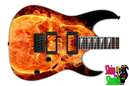 Buy Guitar Skin Fire Skull