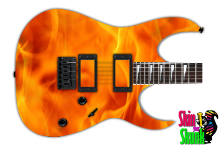Buy Guitar Skin Fire Solid