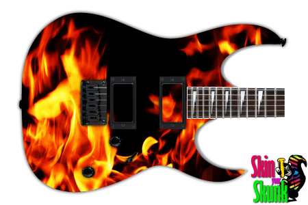 Buy Guitar Skin Fire Torch