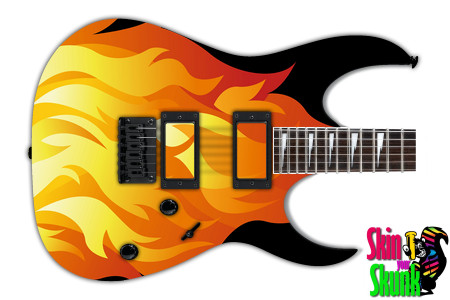 Buy Guitar Skin Fire Vector