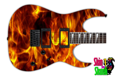 Buy Guitar Skin Fire Wall