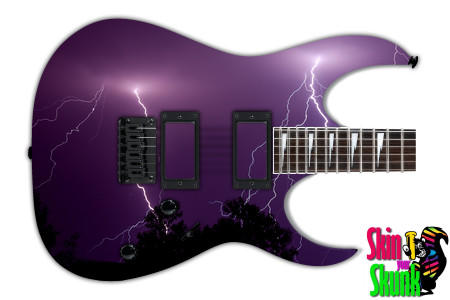 Buy Guitar Skin Lightning Purple