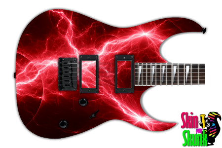 Buy Guitar Skin Lightning Red