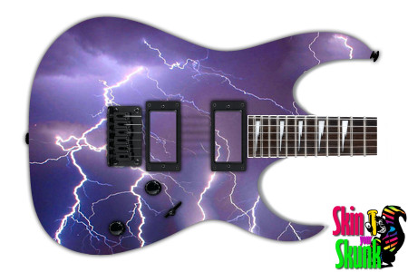 Buy Guitar Skin Lightning Sky