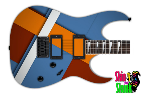 Buy Guitar Skin Geometric Blue