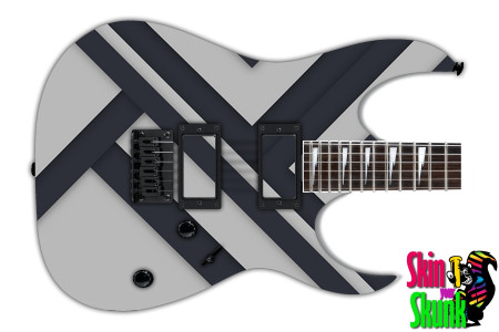 Buy Guitar Skin Geometric Grey