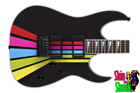 Buy Guitar Skin Geometric Rainbow