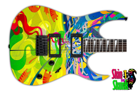 Guitar Skin Psychedelic Paint