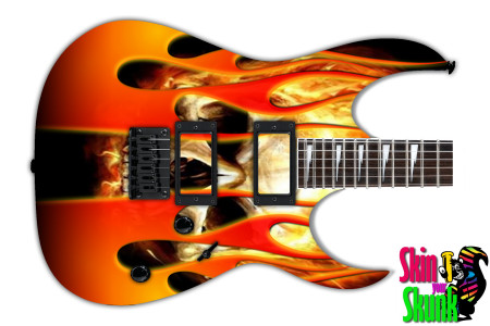 Buy Guitar Skin Hotrod Skull Fire